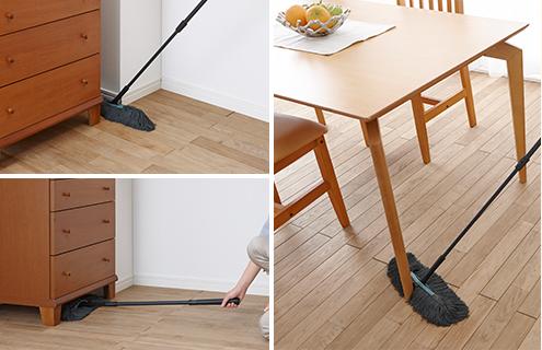 デリケートな床材の隅々まで手軽にキレイにできる機能が充実!